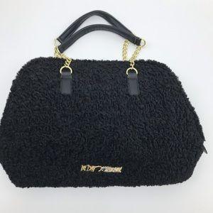 Betsey Johnson Black Bow satchel purse